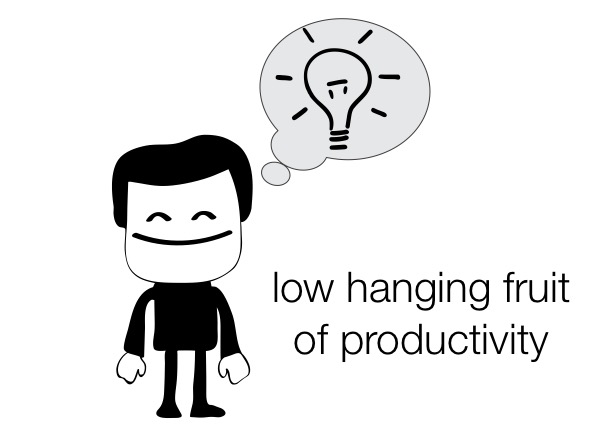 "Is there such a thing as a ""low-hanging fruit"" of productivity?"